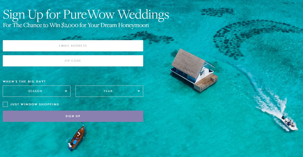 PureWow's $2,000 Dream Honeymoon Giveaway