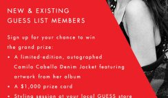 Guess' Camila Cabello Wildheart Sweepstakes