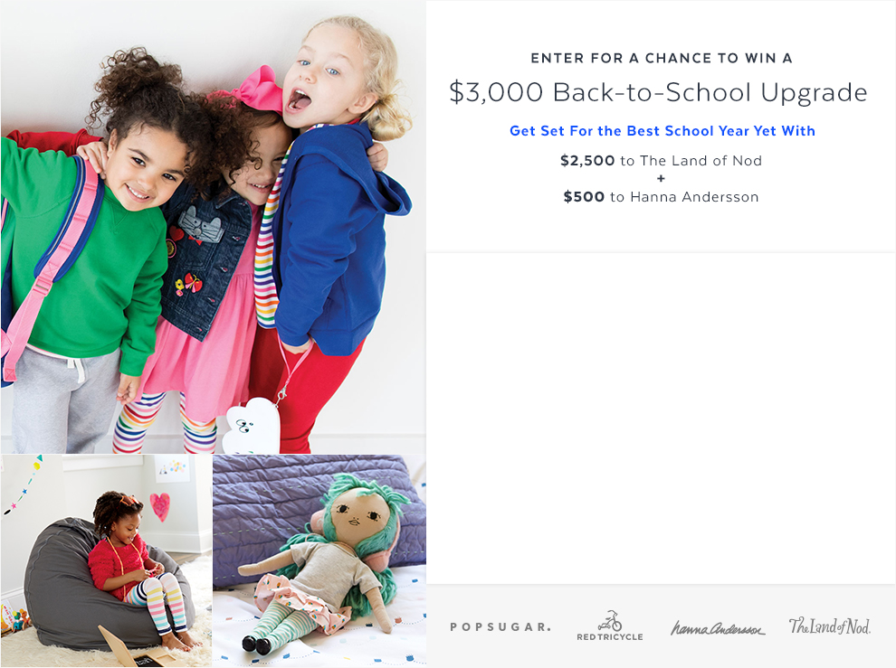 PopSugar's $3,000 Back to School Upgrade Sweepstakes