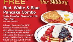 IHOP's Free Pancakes on Veterans Day