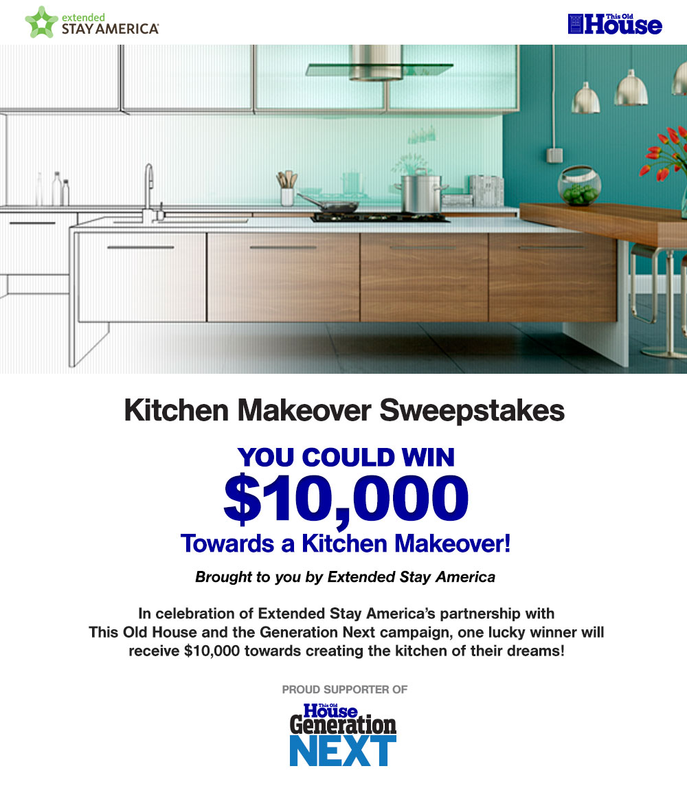 This Old House's Extended Stay Kitchen Makeover Sweepstakes