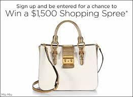 Saks Fifth Avenue's $1,500 Shopping Spree Sweepstakes