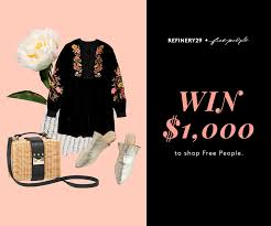 Refinery 29's Free People Sweepstakes