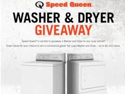 Speed Queen's Washer & Dryer January Giveaway