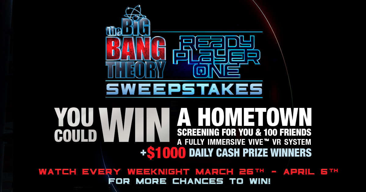 Big Bang Theory's Ready Player One Sweepstakes