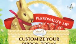 Free Lindt Chocolate Personalized Ribbons