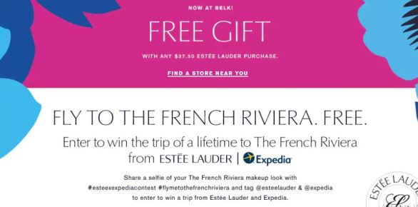 Estee Lauder and Expedia's Fly Me to The French Riviera Contest