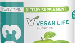 Vegan Life Nutrition Vitamin D3 or Vitamin B12 Chewable Tablets