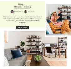 shley HomeStore's Marcus & Kristin Home Office Sweepstakes
