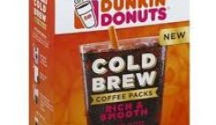 Free Dunkin Donuts' Cold Brew Coffee Sample
