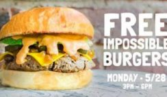 Free Impossible Burgers on National Burger Day