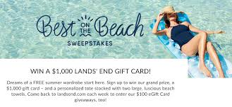 Lands' End's Best on the Beach Sweepstakes