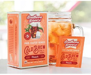 Free Southern Breeze Zero Calorie Cold Brew Peach Sweet Tea Sample