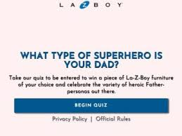 La-Z-Boy's What Type of Superhero Is Your Dad? Sweepstakes