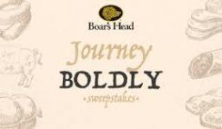 Boar's Head's Journey Boldly Sweepstakes