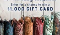 Boot Barn's 40th Anniversary Sweepstakes