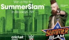 Cricket Wireless' SummerSlam Flyaway Sweepstakes