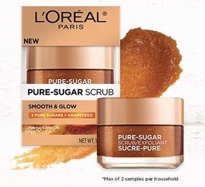 Free L'Oreal Pure Sugar Sample