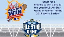 MLB - Clean Up and Win Sweepstakes