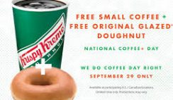 Free Hot or Iced Coffee from Krispy Kreme