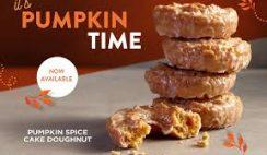 Free Krispy Kreme Pumpkin Spice Cake Doughnut