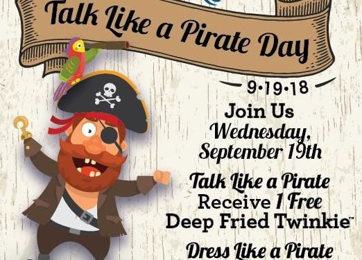 Long John Silver's Talk Like a Pirate Day