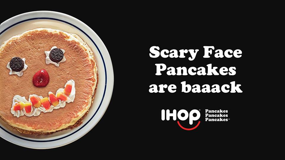 Kids Get Free Scary Face Pancake at IHOP