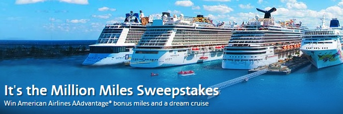 American Airlines Cruises' Million Miles Sweepstakes