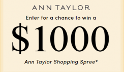 Ann Taylor's $1,000 Gift Card Giveaway