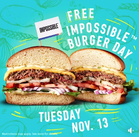 Free Impossible Burger at Dave and Busters