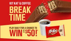 Kit Kat's Break Time Instant Win Game