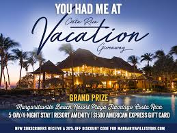 Margaritaville's You Had Me at Costa Rica Vacation Giveaway