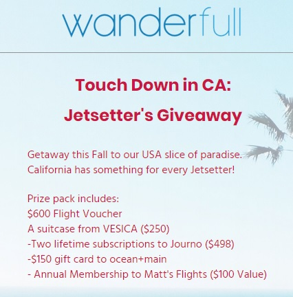 Wanderfull's Jetsetter's Giveaway