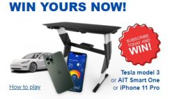 Win a AIT Smart Desk, Tesla, or latest iPhone - 15 Winners
