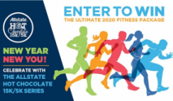 Win a NordicTrak Cycle, Fleet Feet Shoes, Aftershokz Headphones, Nuun Nutrition Hydration Supply, Flight/Hotel Stay & More From Allstate Hot Chocolate Great Fitness Giveaway - ($5k in Prizes) - ends 1/19
