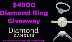 Win a $4,800 Free Diamond Ring & Unicorn Candle From Diamond Candles - ends 2/14