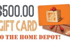 Win 1 of 3 $500 Home Depot Gift Cards - ends 1/11