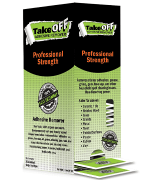 FREE TakeOFF Adhesive Remover Wipes