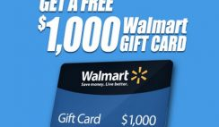 Win a $1,000 Walmart Gift Card - ends 1/31
