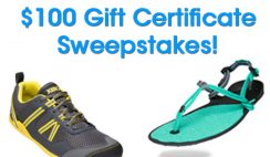 Win a $100 Xero Shoes Gift Card - ends 1/31
