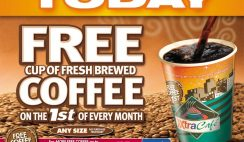 FREE Cup of Coffee at XtraMart Today - 1st of Every Month!! - Any Size!