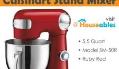 Win a Cuisinart Stand Mixer 5.5qt Ruby Red - ends 2/27