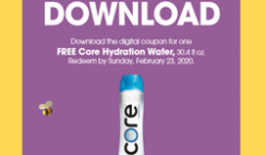FREE Core Hydration Single 30.4oz Drink  - Load Coupon Today ONLY