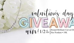 Win a Curved Diamond Bar 10k White Gold Pendant From Riddles Jewelry - ($1,000 Value) - ends 2/10