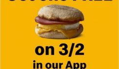 FREE Egg McMuffin at McDonald's on 3/2