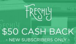 Today ONLY: Get $50 Cash Back at Freshly