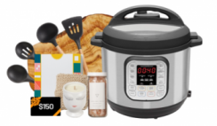 Win 1 of 3 Instant Pot Live Deliciously Prize Bundles with $150 Amazon Gift Cards, Instant Pot Duos & More ($1,000 Value) - Enter Daily - ends 3/6