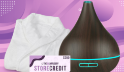 Win a Drop of Bliss Diffuser, Luxury Spa Robe & a $250 Store Gift Card to The Oil Diffusery  - ends 2/29