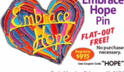 FREE Embrace Hope Pin at Penzeys Spices Store - ends 2/10