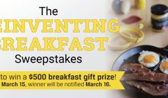Win a $500 Reinventing Breakfast Gift Set - With Lodge Cast Iron Cookware & Griddles, Butcher Box, a Year of Eggs, Tabasco & Much More! - Ends 3/15